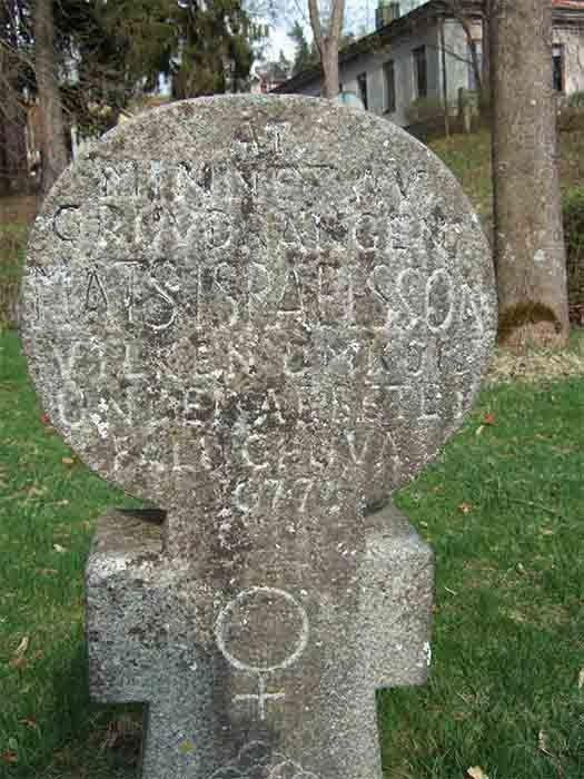 Bia mộ của Israelsson ở Falun, Thụy Điển.