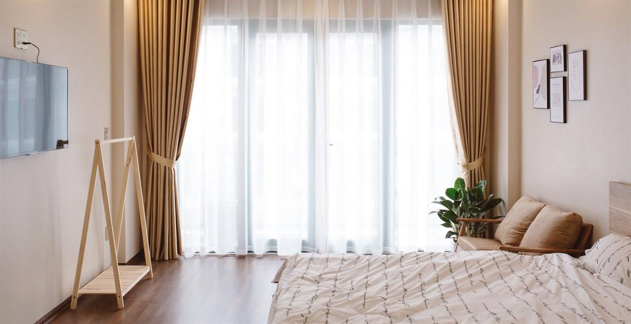 Phòng nghỉ rộng rãi và đẹp mắt